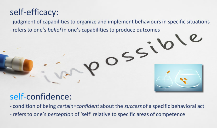 self-efficacy and self-confidence